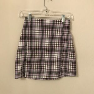 purple and green plaid brandy cara skirt